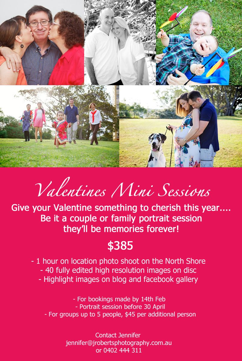 Valentine's Day Portrait Photography Voucher
